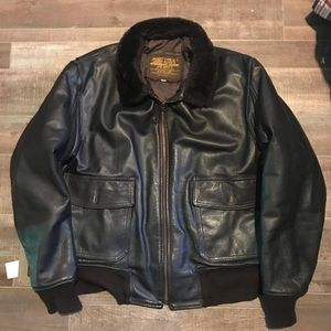 Jacket Type G-1 U.S Navy Sheepskin/leather